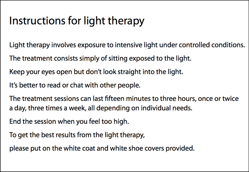 light therapy instructions